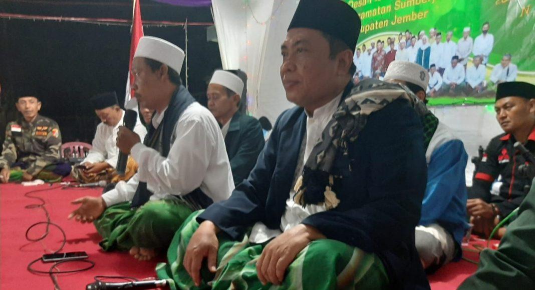 H Ahmad/MWC NU Sumberjambe: Sholawatan warga Nahdliyyin di Ranting NU Desa Plerean Sumberjambe, Jumat (18/09/2020)